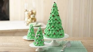 Christmas peek-A-Boo tree cake | Christmas tree cake | how to make a 3d christmas tree cake