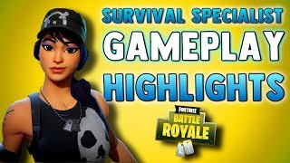MY FAVORITE SKIN IN FORTNITE BATTLE ROYALE!! Fortnite Survival Specialist Gameplay Highlights