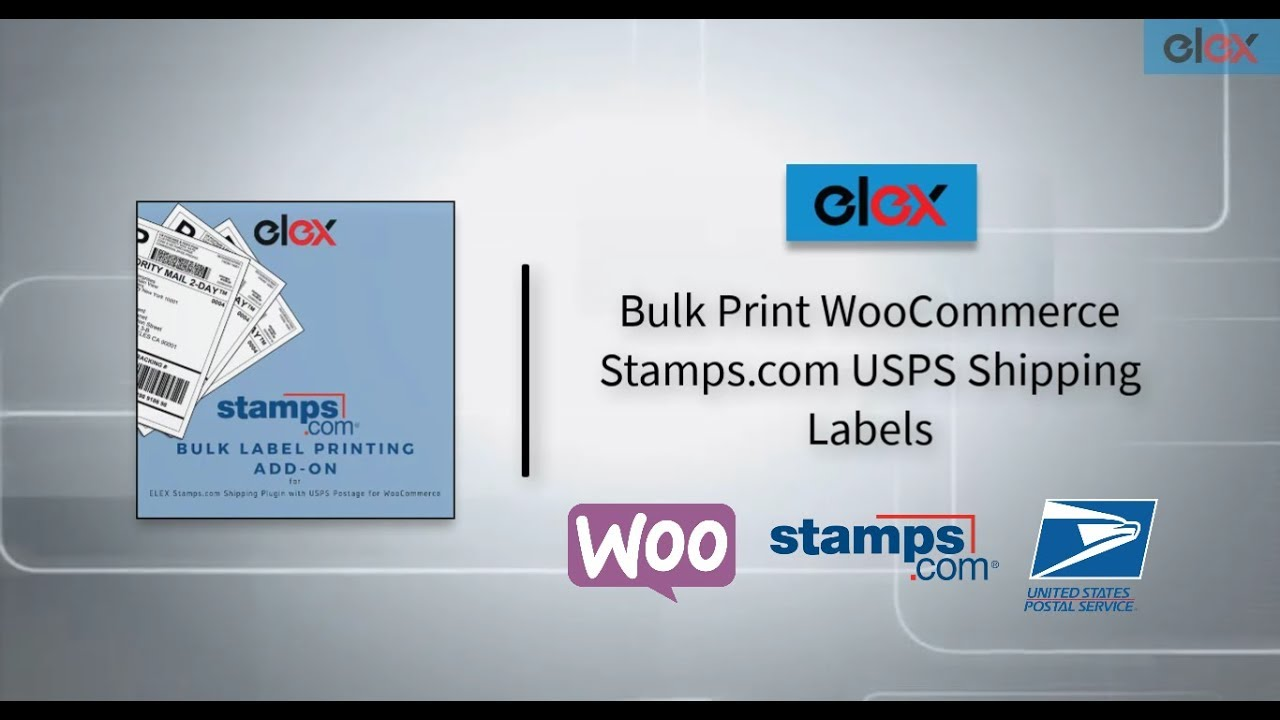 How to bulk print Stamps com USPS shipping labels with ELEX
