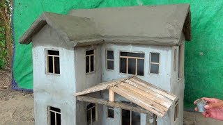 FOUNDATION OF BRICKLAYING - MINI HOUSE - MODEL HOUSE - BRICK HOUSE -  HOW TO BUILD