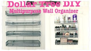 DOLLAR TREE DIY MULTIPURPOSE WALL ORGANIZER || AMAZING Price $5 Only