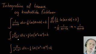 Integration af lineære og kvadratiske faktorer