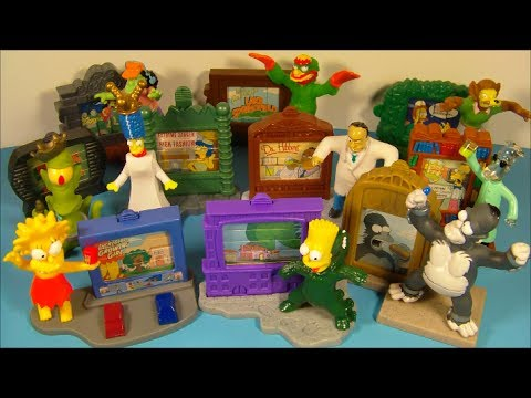 2002 THE SIMPSONS CREEPY CLASSIC'S SET OF 10 BURGER KING KID'S MEAL TOY'S VIDEO