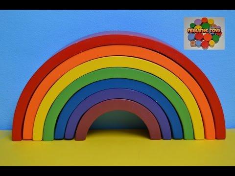 Arcoiris De Grimm Arcoiris Waldorf Wooden Rainbow Juguetes De