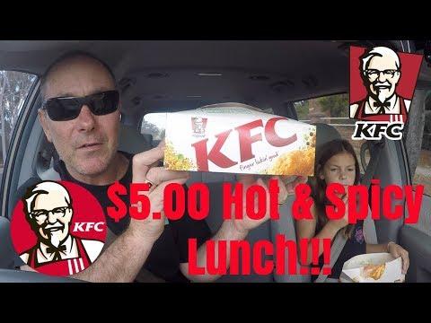 KFC $5 00 Hot & Spicy Lunch!!!