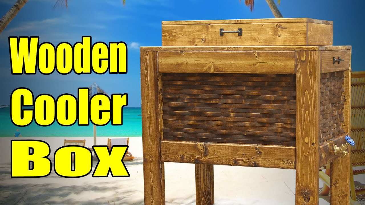 Make a wooden cooler box 182 youtube for Wooden beer cooler plans