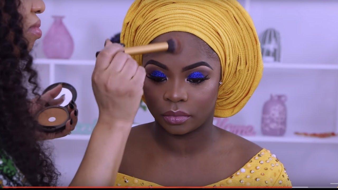 CLIENT GELE AND MAKEUP TRANSFORMATION / NIGERIAN WEDDING COMPLETE VLOG 3