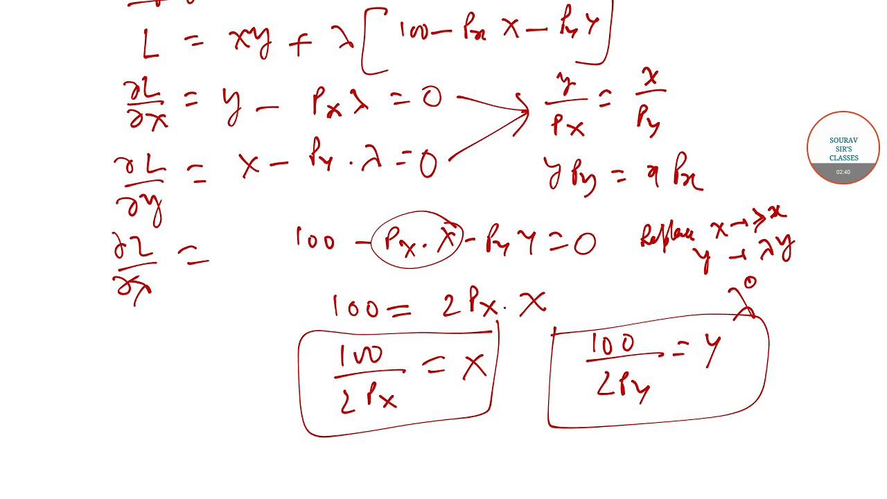 ECONOMICS HONOURS MATHEMATICAL ECONOMICS PAST YEAR SOLUTIONS TO BSC(I) 8