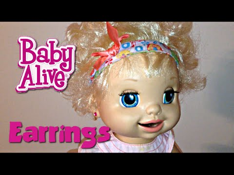Baby Alive Doll Presents and Ears Pierced by Zoe