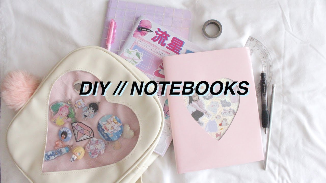 DIY // Aesthetic Notebooks For Back To School - YouTube