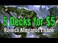 MTG: 5 Decks for $5 Each - Ravnica Allegiance Edition!
