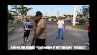 Behind the scenes Yung Nation ft. Nation Gang- Versace 25K Freestyle (Skitz Video)