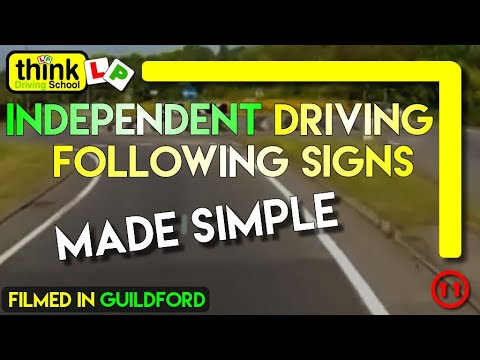 Independent Driving in Guildford Following Signs and Basic Commentary @ Think Driving School