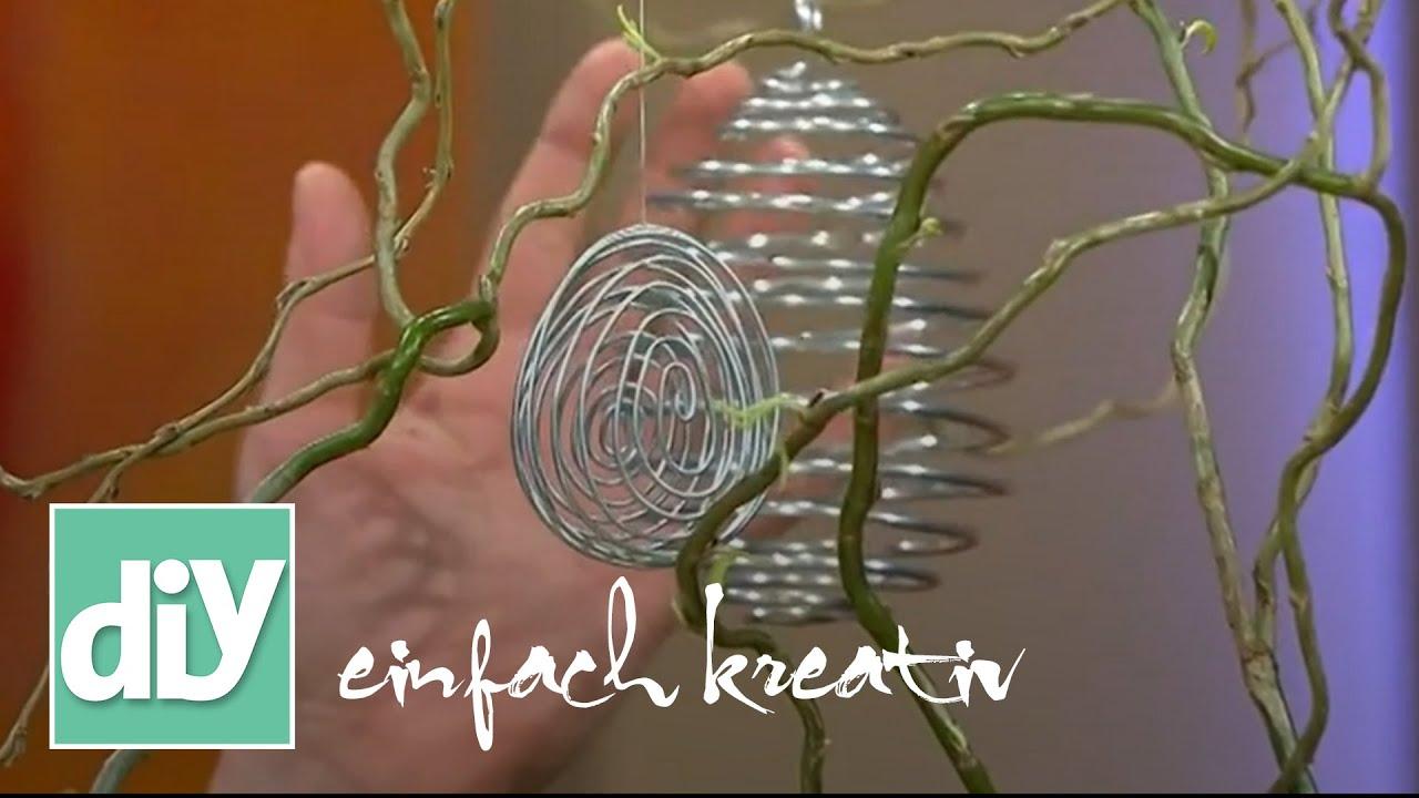 Ostereier aus Draht | DIY einfach kreativ - YouTube