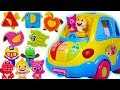 Pinkfong Shark Family Melody Car departure! Blocks Finding Play with Baby Shark #PinkyPopTOY
