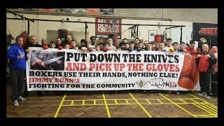 'PUT DOWN THE KNIVES PICK UP THE GLOVES' JIMMY EGANS BOXING ACADEMY DOING THEIR BIT!