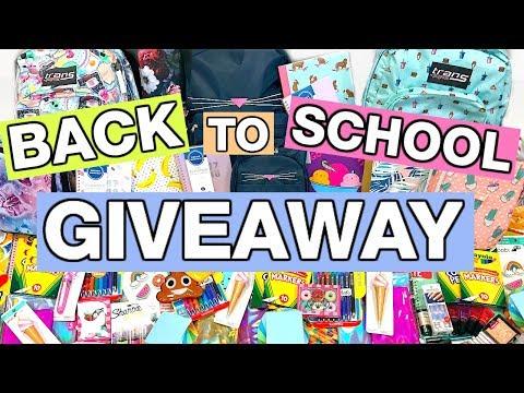 HUGE BACK TO SCHOOL GIVEAWAY 2017