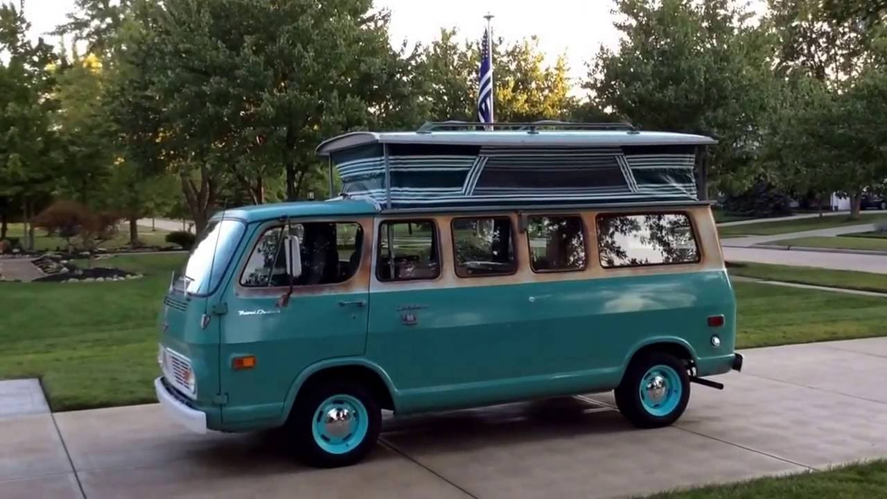 Chevy Conversion Van For Sale >> 1968 Chevy Sportvan 108 Travel Cruiser Pop Top Conversion - YouTube