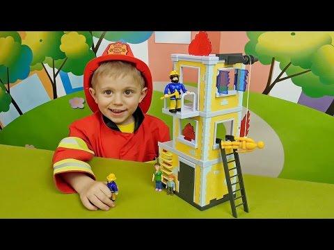 Пожарная Станция Лего Дупло 5601 собираем конструктор и играем .
