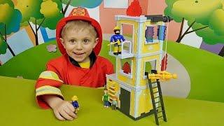 Пожарный Сэм и тренировочная башня   Играем с Даником в пожарных  Fireman Sam and fire rescue tower(Пожарный Сэм Fireman Sam - это один из самых любимых мультфильмов Даника и это не удивительно, ведь все мальчики..., 2016-02-05T14:48:29.000Z)