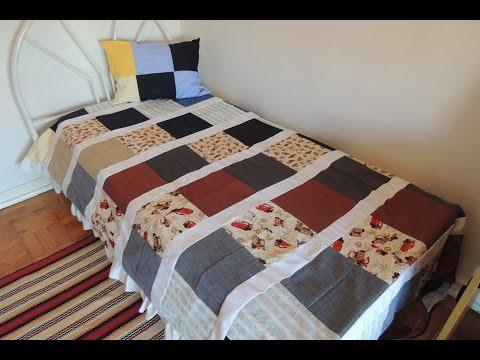 Vídeo aula - Cobertor de retalhos