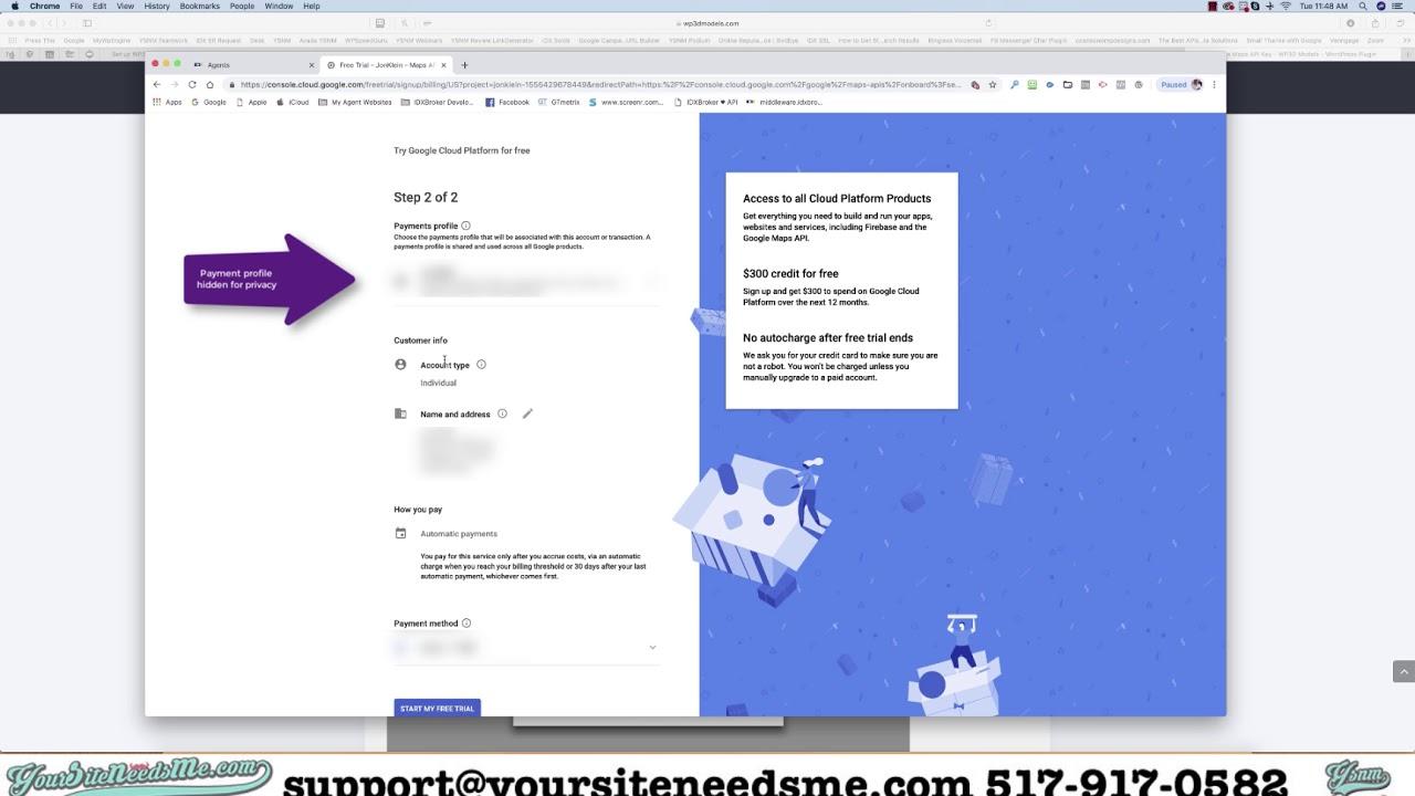 Tutorial: How to get a Google Maps API Key - YouTube