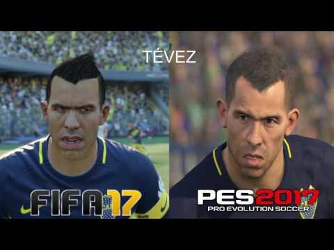FIFA 17 vs PES 17: BOCA PLAYER FACES | HD 1080