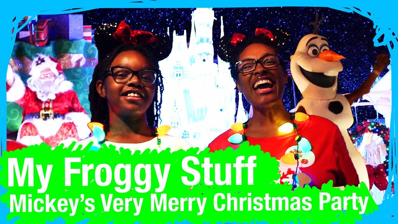 Mickey's Very Merry Christmas Party With MyFroggyStuff | WDW Best Day Ever - YouTube