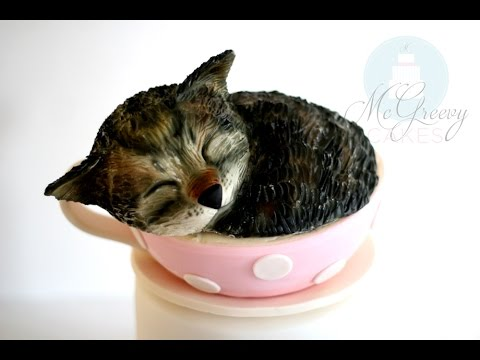 Kitty in a Teacup Cake Tutorial