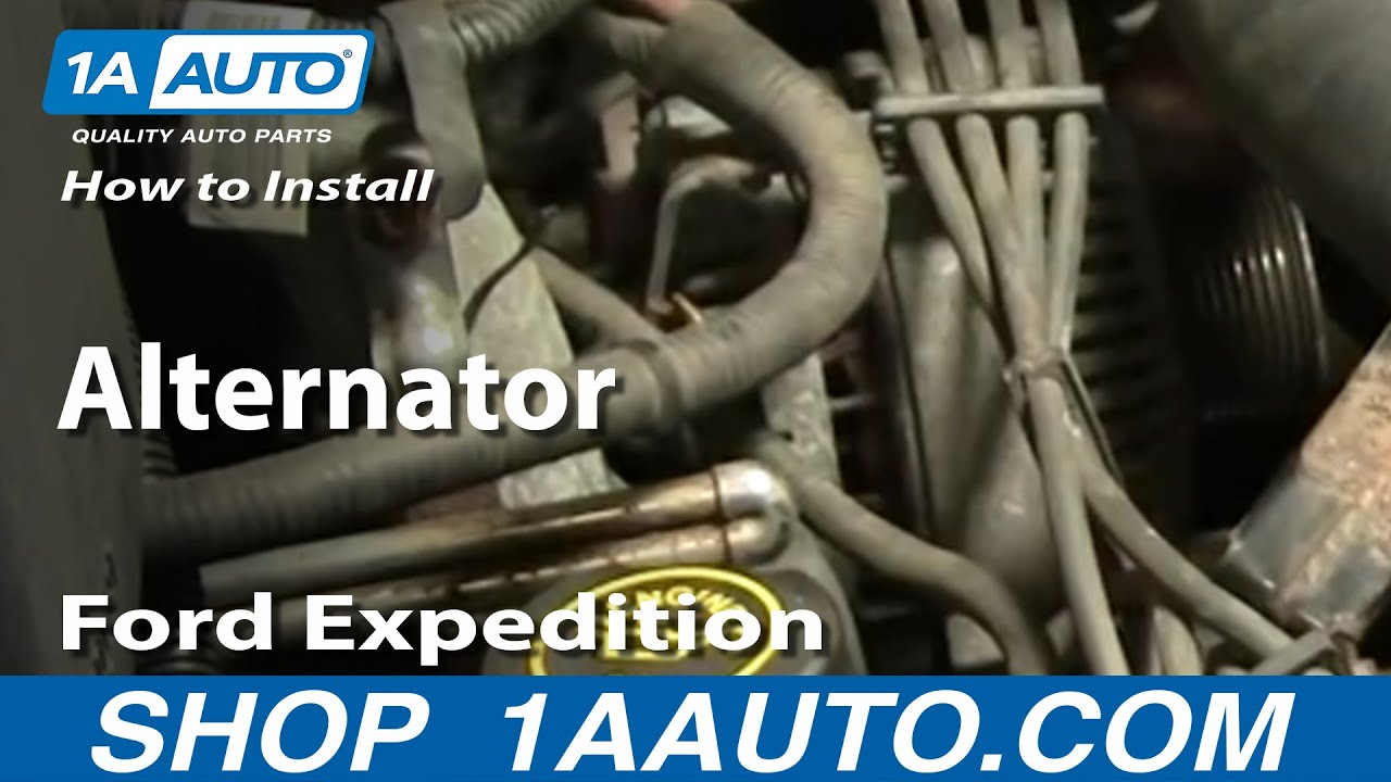 How To Install Replace Alternator Ford F150 Expedition Lincoln Navigator 9703 1AAuto  YouTube