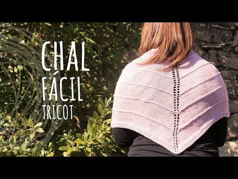 Tutorial Chal Fácil Tricot | Dos Agujas - YouTube