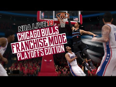 NBA LIVE 19 FRANCHISE MODE CHICAGO BULLS GAMEPLAY | PLAYOFFS GAME 3! OH WOW....(PRE PATCH 1.19)