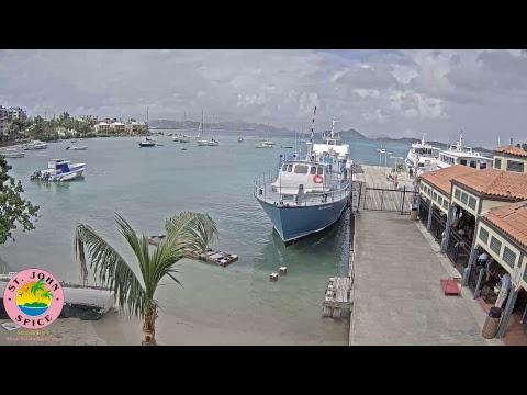St. John Spicecam Cruz Bay Ferry Dock