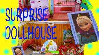 Doll House SURPRISE Disney Princess Angry Birds Sophia Tinker Bell SpongeBob Frozen Elsa