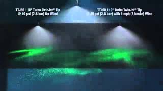 TeeJet TTJ60 Turbo TwinJet Spray Tip Drift Demo