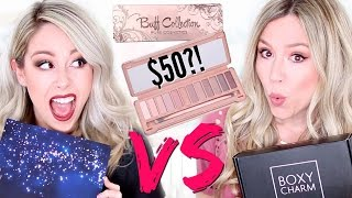 OMG!! $50 Palette?! | UNBOXING: Boxycharm VS Glossybox - December