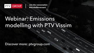 Webinar: Emissions modelling with PTV Vissim