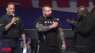 2019 Arnold Strongman Classic Day 1 ROGUE Elephant Bar + Husafell Stone Carry