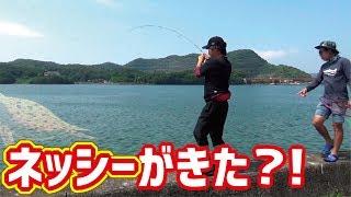 気象庁が異常天候警戒の発表後に岸辺から凄いモンスターが釣れた!