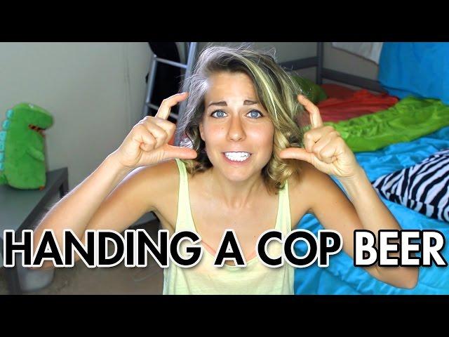 Handing a Cop My Beer