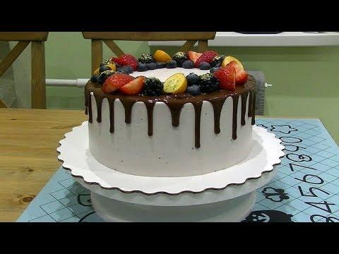 Как делать подтеки из шоколада на торте