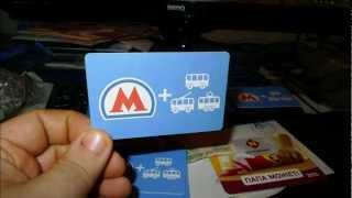 NEW TICKET OF MOSCOW METRO ...НОВЫЙ БИЛЕТ МЕТРО..