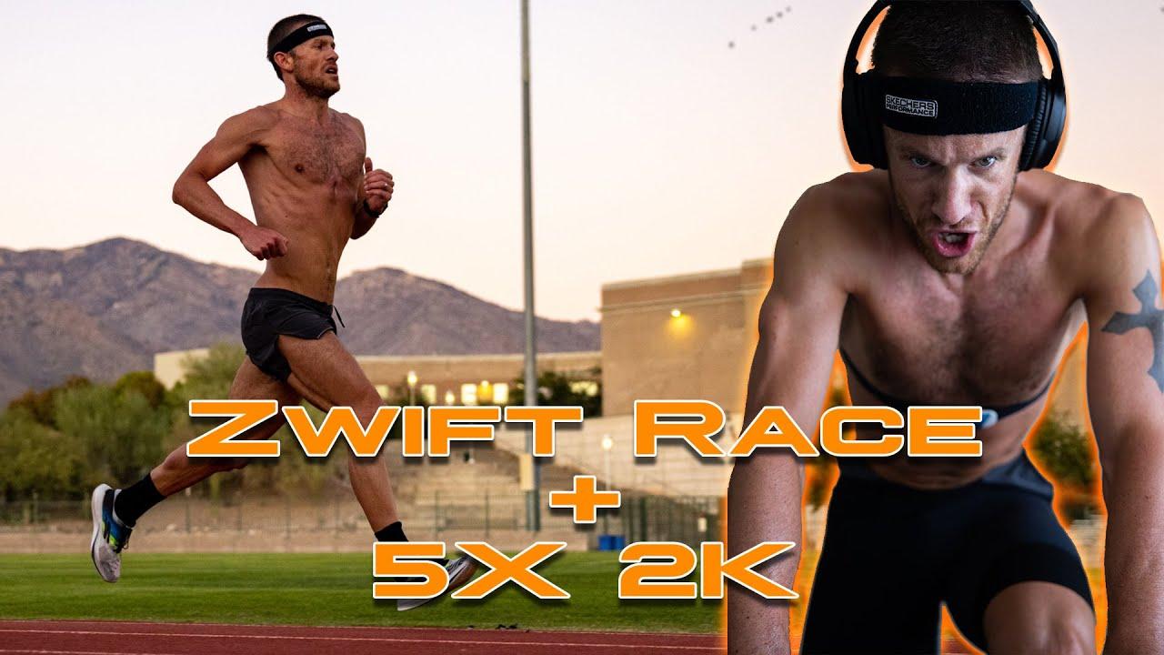 Last Second Zwift Race + 5X2K Repeats