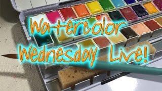 Watercolor Wednesday Live! ***Warning!!!***Nude Figure