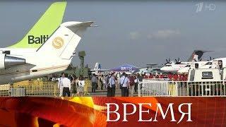 На авиасалоне представили российско-китайский пассажирский лайнер.