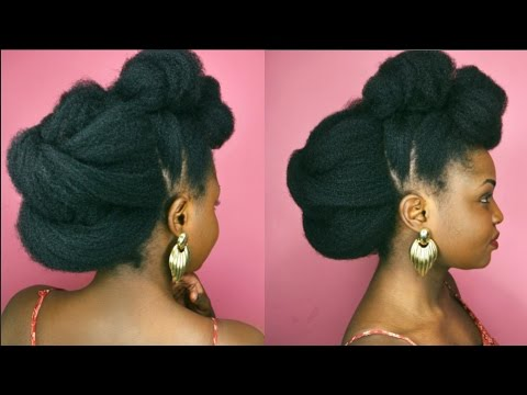 Christmas Hairstyles For Black Hair.Christmas New Year S Eve Updo Idea For Natural Hair