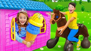 Sasha and a collection of funny stories about a toy cafe and horses