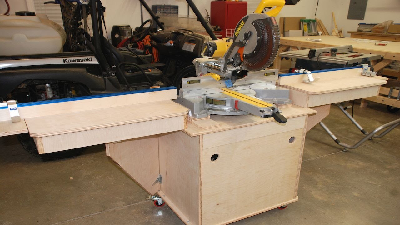 Build the Fine Woodworking Miter Saw Station Pt. 3 - YouTube