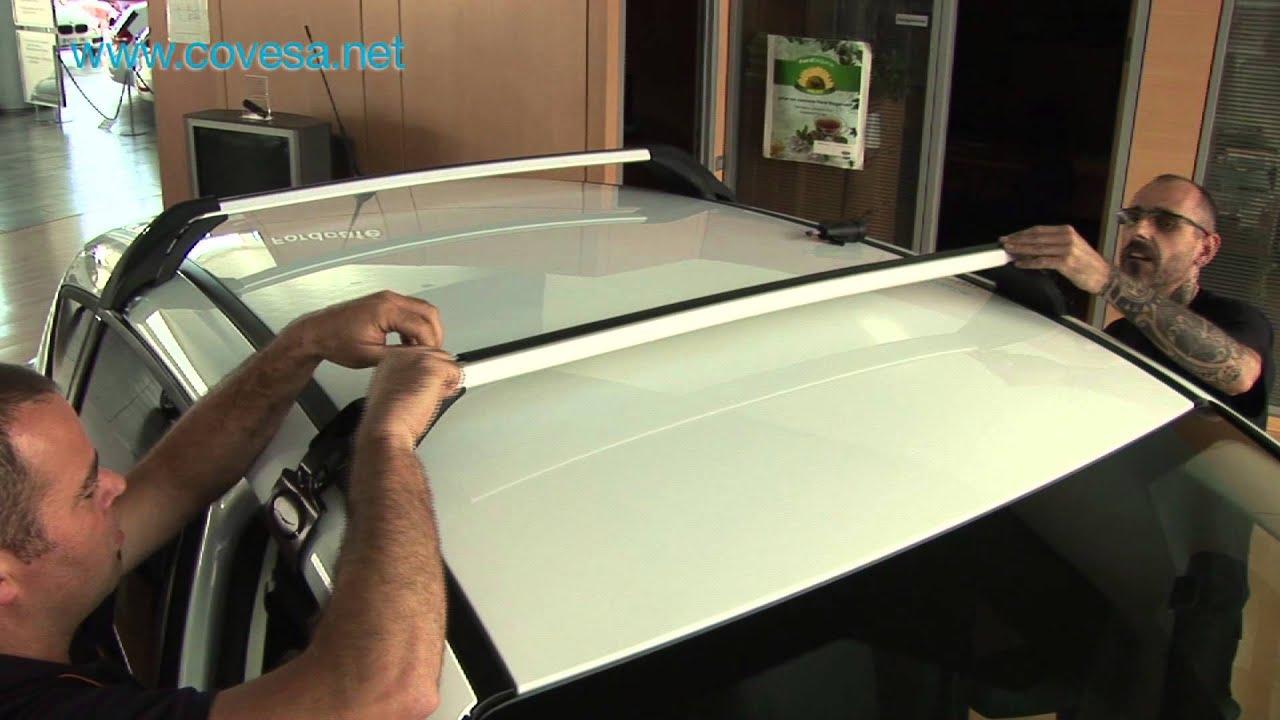 Instalaci 243 N De Las Barras De Techo Ford Youtube