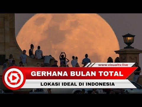 Lokasi Ideal Melihat Gerhana Super Blue Blood Moons di Indonesia